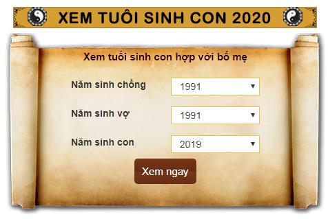 Sinh con năm 2020 tháng nào, ngày nào, mùa nào và tuổi nào